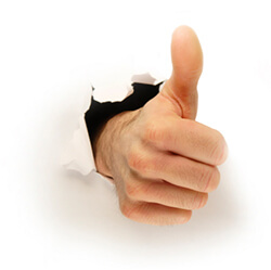 Hole Punch Thumbs Up