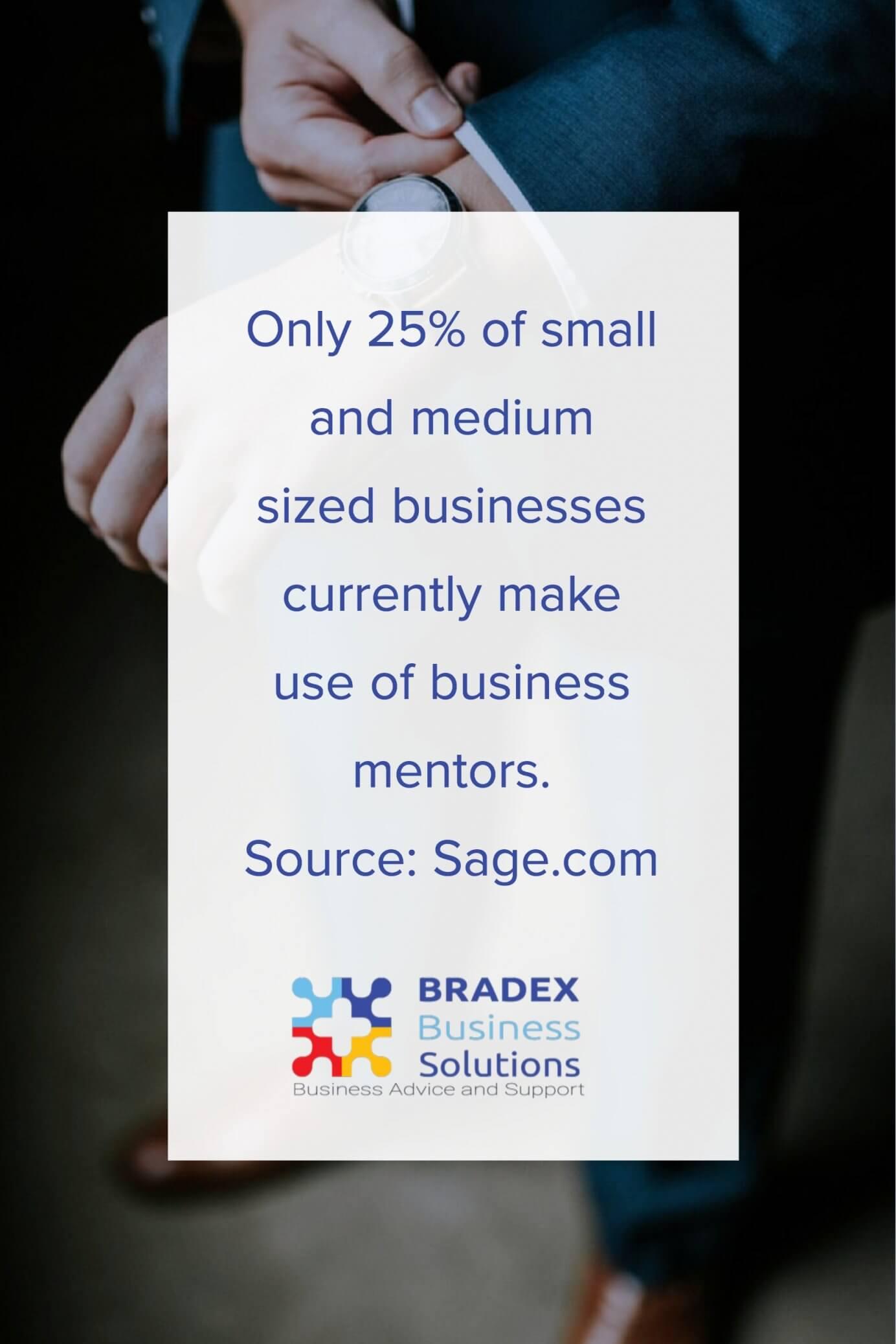 25% of SME use a mentor